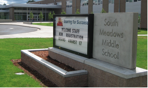 HSD-South-Meadows-MS-Exterior-Sign