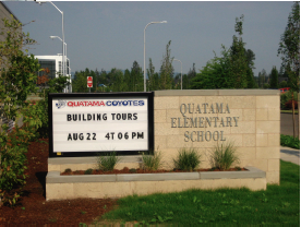 Conerstone MGI HSD Quatama Elementary School Exterior Sign